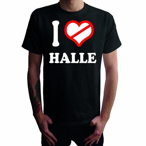 I don't love Halle Herren T-Shirt Schwarz