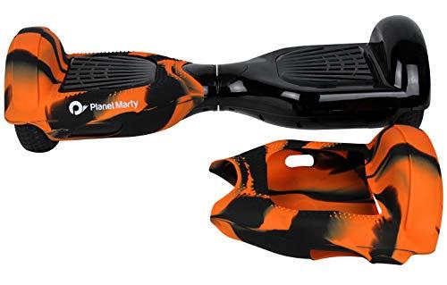 """Silikon 360 Schutzhuelle Tasche Fuer 6.5\"""" Hoverboard Balance Board Elektro Scooter (Orange und Schwarz)"""
