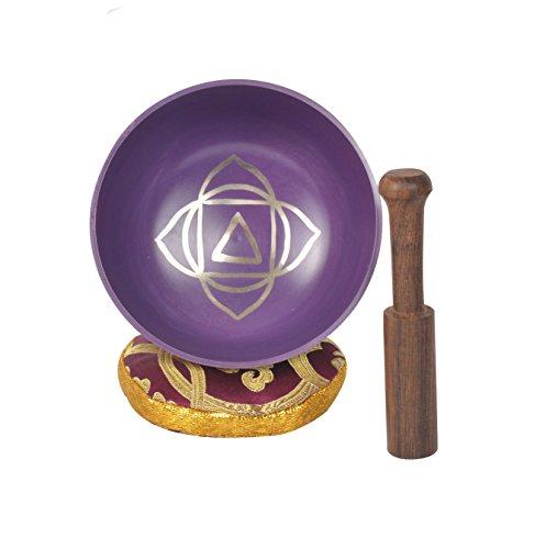Tibetanische Muladhara Chakra Meditation Klangschale für Heilung Gebet, Yoga mit Mallet & Kissen (MH-SING-1071-L)