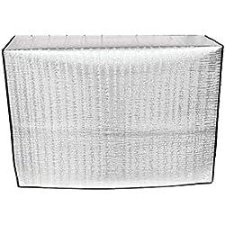 Faviye Couverture extérieure de climatiseur Fait de Film d'aluminium Anti-poussière Anti-Snow Imperméable Housse Climatiseur Exterieur