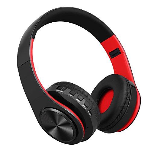 Bluetooth Over Ear Kopfhörer,Noise Cancelling Stereo Wireless Headset mit Lederohrpolster,Bluetooth 4.1 Wireless Kopfhörer Headset mit Mikrofon für PC / Handys / TV (Noise Kopfhörer Stereo Cancelling)