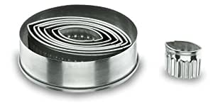 Lacor 68068 Emporte-pièces Boîte de 7 Découpoirs Ovales Cannelés en Inox
