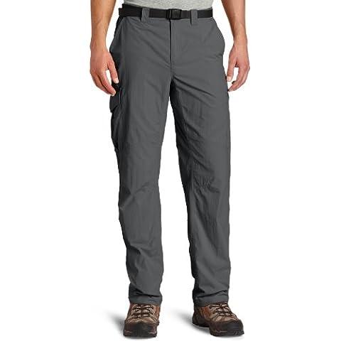 Columbia Silver - Pantalones de senderismo para hombre, color beige gris (grill), talla 34