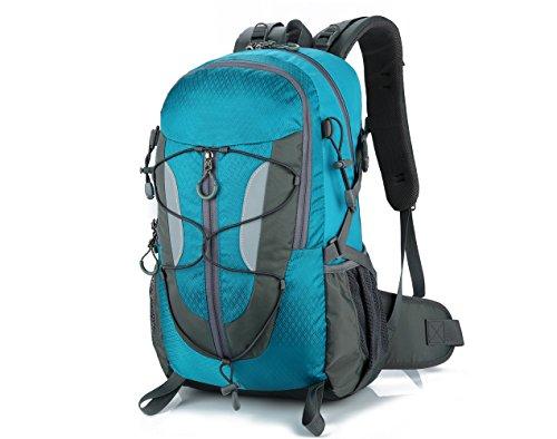 Lily S Locker–�?0L zaino da donna e da uomo Outdoor tasche con più spazio per l' escursione del campeggio Alpinismo viaggio scuola 29x50x18cm, Blau Blau