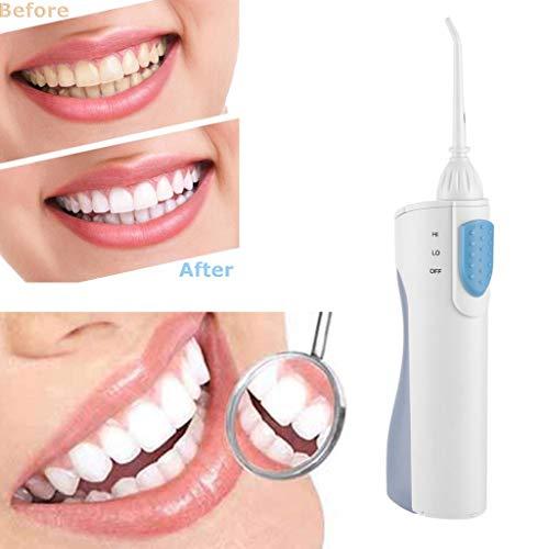 Liqiqi Elektrische Munddusche Wasser Flosser Tragbar Kabellos 200ML mit 2 Ersatzdüsen, Batteriebetrieben, Dentale wasserdicht Oral Irrigator Wasserreiniger für Zahnpflege und Zahnreinigung