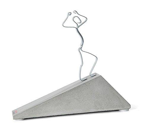 """Skulptur Figur """"Geschafft!"""", Beton. Made in GER. Geschenk zur bestandenen Prüfung"""
