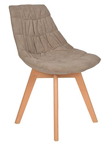 ts-ideen Chaise de Bureau Table de la Cuisine Chaise siège Classique pulpe de Fauteuil Bar Gris Marron