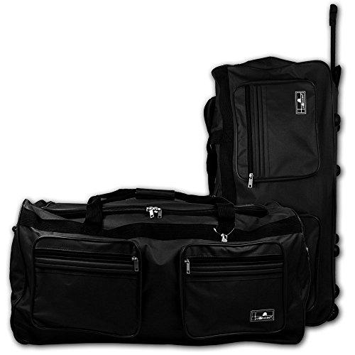 XXL Reisetasche - Trolley - Koffer - Tasche - Trolleytasche Miami mit Farbauswahl (schwarz) schwarz