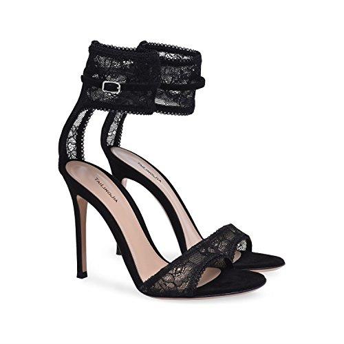 100d03f602a630 XUE Scarpe da Donna Tulle Sandali Comfort Scarpe da Passeggio Tacco a  Spillo Tacco a Punta