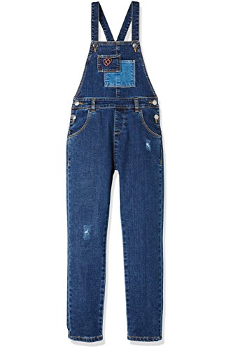 RED WAGON Girl's Dungaree, Blue, 4 Years