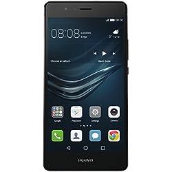 Huawei P9 Lite Smartphone, LTE, Display 5.2'' FHD, Processore Octa-Core Kirin 650, 16 GB Memoria Interna, 3GB RAM, Fotocamera 13 MP, Single-SIM, Android 6.0 Marshmallow, Nero [Italia], (Ricondizionato Certificato)