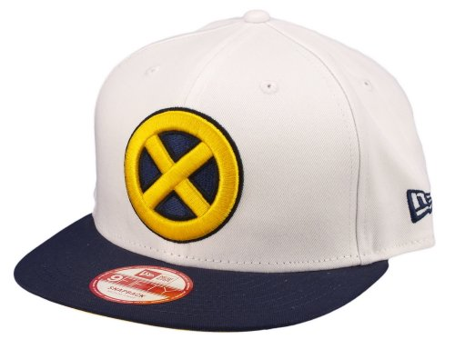 New Era 9Fifty Character Bianca Top X-Men Cappellino Con Visiera - Bianco, M/L = 56.8cm - 61.5cm