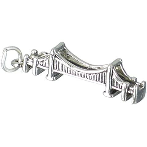 Mackinac Ponte in argento Sterling ciondolo .925 x 1 Michigan Ponti Charms sssc398