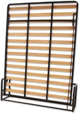Cama De Matrimonio Abatible Vertical 150 x 200 cm (cama doble estilo Murphy Bed, cama plegable, sofá cama, mueble cama oculta).