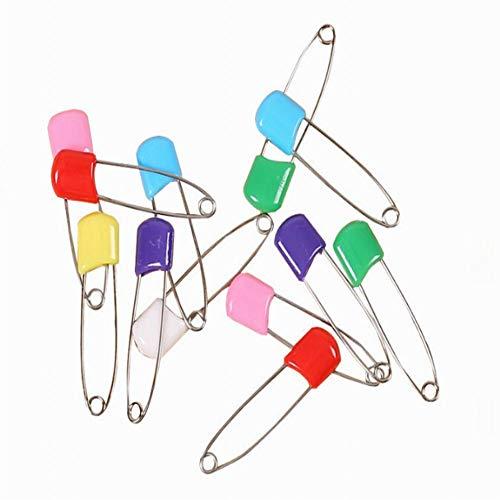Housesweet Windelnadeln aus Edelstahl mit sicheren Verschlüssen für besondere Anlässe, Basteln oder bunte Wäscheklammern, 6 Stück 1 * 5.5cm bunt (Windeln Größe 1 Bulk)