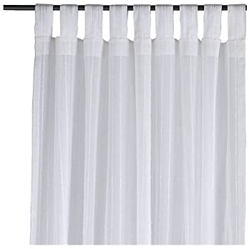 IKEA Matilda Set Of 2 Curtains Translucent With Loops 300 X 140 Cm Each  100% Cotton White