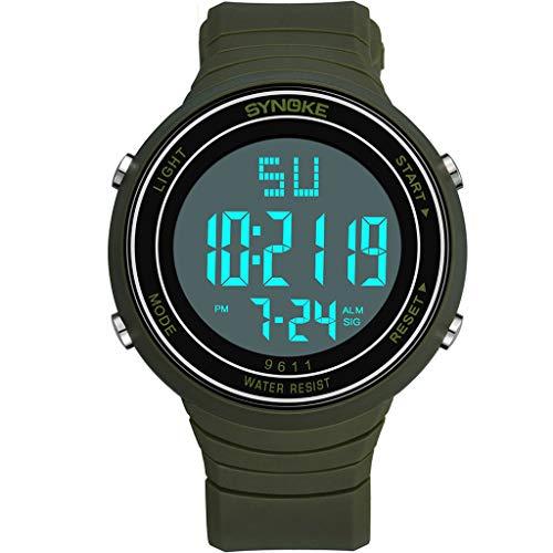 Cyan Smart Print (TWISFER Digitale Sportuhr, militärische Outdoor Uhr für Männer wasserdichte LED Uhren Elektronische Gegenlicht 50M wasserdicht Stoppuhr Alarm)