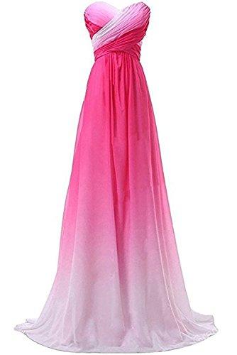 Gorgeous Bride Elegant Lang Rabbatte Chiffon Mehrfarbig Partykleider Brautjungfernkleider Abendkleider Festkleid Ballkleid Z-Style P