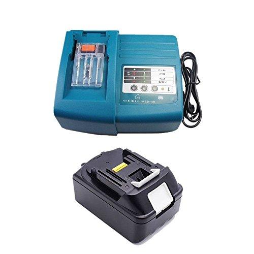 AAA + 5,0 Ah Batterie + Chargeur de batterie pour outil Makita BL1850 Li-Ion 18 V 5,0 Ah, 196672-8 ersetzen DC18RC BL1830 Neuf