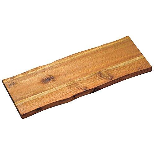 Kesper Tranchierbrett 53x19x2cm aus Akazie, braun, 53 x 19 x 2 cm Holz Brett