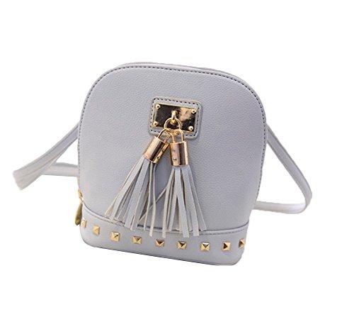 TELLW da donna, da donna, in pelle sintetica, con borsa a tracolla, bianco (Bianco) - 026