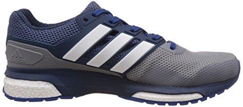 adidas Response 2 M, Chaussures de Running Compétition Homme, Gris, 46 EU Grau (Grey/Mineral Blue S16/Eqt Blue S16)