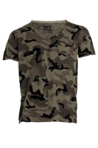 T-Shirt stampata Camouflage, S