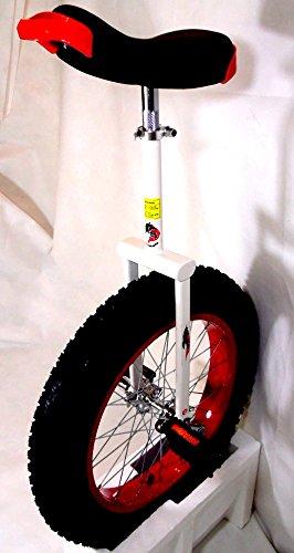 Dragonskate All Terrain Einrad Fat Wheel, 20 Zoll (Weiß / Rot, 20 Zoll Fat Wheel)