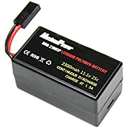 LiPo Battery For PARROT AR.DRONE 2.0 & 1.0 Quadricopter Lithium-Polymer 1500mAh 11.1V 20C (DRB 2300mAh Single Plug)