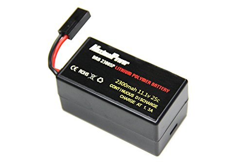 LiPo Battery For PARROT AR.DRONE 2.0 & 1.0 Quadricopter Lithium-Polymer 1500mAh 11.1V 20C (DRB 2300mAh Single Plug) Lithium Polymer Charge Pack
