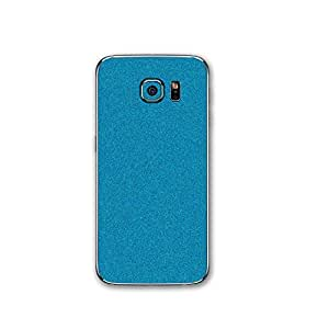 STICK_ME Shimmer Back Mobile Skin Decal for Samsung Galaxy S6 - Light Blue