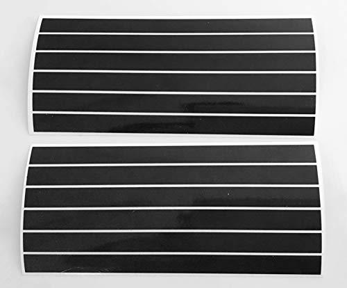 12 STK. 15 cm x 10 mm Aufkleber aus Reflexfolie 3M Scotchlite schwarz -