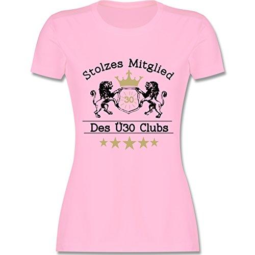Geburtstag - 30. Geburtstag Stolzes Mitglied des Ü30 Clubs - S - Rosa - L191 - Damen T-Shirt Rundhals