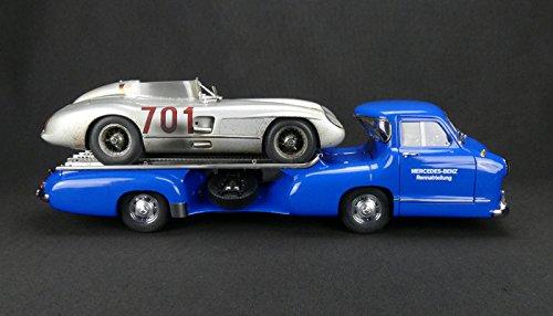 M-163 Mercedes Renntransporter Blaue wunder mit MB 300 SLR Nr 701 Dirty...