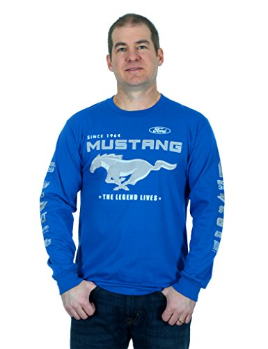 Laugh Dusk Men's Ford Mustang Collage Long Sleeve T-Shirt X-Large