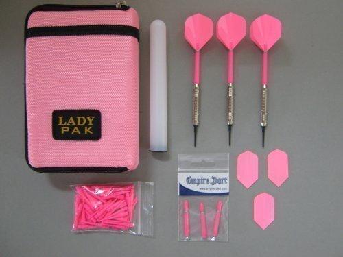Dart-Tasche mit 3 Chrom-Dart-Pfeilen und Zubehör (38