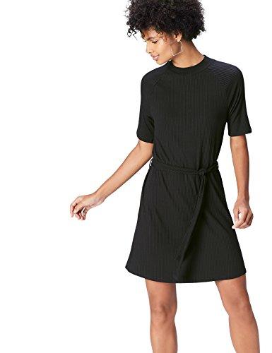 FIND Vestido de Canalé para para Mujer , Negro (Black), 44 (Talla del Fabricante: X-Large)