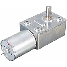 Rishil World DC 12V Worm Geared Motor 0.6RPM Reversible Gear Reducer Turbo Motor