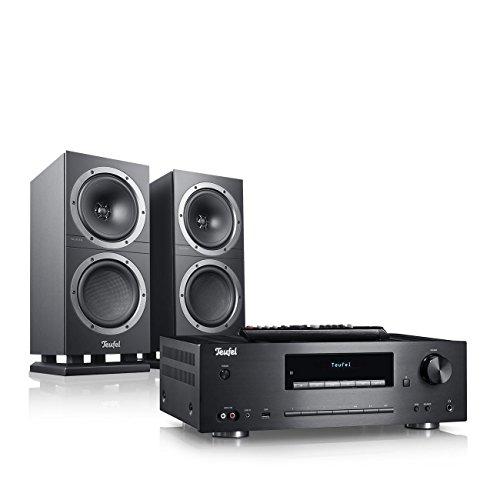 Teufel Kombo 500S Schwarz Stereo Lautsprecher Musik Sound Hochtöner Mitteltöner Bass Speaker High End HiFi Tieftöner Schalldruck Soundanlage
