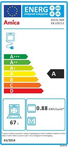 Amica EB 13521 E Backofen Elektro/A / 0,79 kWh / 69 Liter/Konventionelle Beheizung/edelstahl