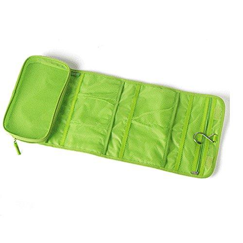 Lumanuby Mode Faltbar Kosmetiktasche für Reisen Kulturtasche Toiletbag Reisentasche Zum Aufhängen für Damen und Herren Kulturbeutel für Reisen,Grün