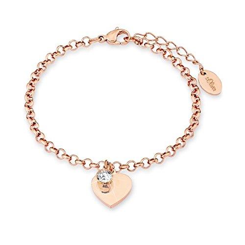s.Oliver - Armband HERZ roségold mit persönlicher GRAVUR, SO1348/01