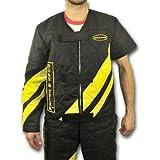 Veste de protection contre les égratignures avec manche longue attachable, noire/jaune, TT-large (Taille 107 cm)