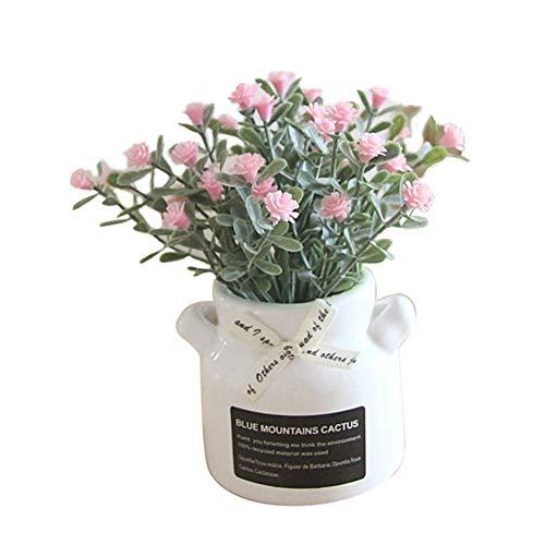 Yosemite 1 Stück Frische Stil Topf Künstliche Blume Babysbreath Bonsai DIY Garten Hochzeit Party Decor Rosa (Blume Geburtstagsfeiern Für Mittelstücke)