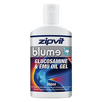 Glucosamine and Emu Joint Gel Blume 4x 350ml (includes 1 Free Bottle), by Zipvit Vitamins Minerals & Supplements from Zipvit