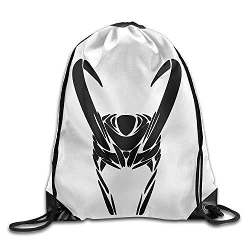 NasNew Athletic Loki Helmet Logo Drawstring Bags Cinch Pack