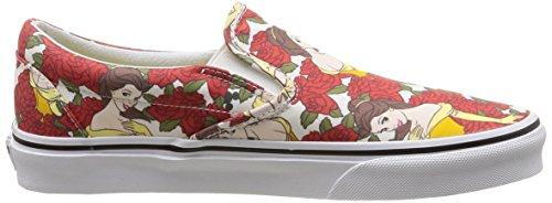Vans U CLASSIC SLIP-ON DISNEY Sneaker, Unisex Adulto Multicolore (Disney/Belle/True White)