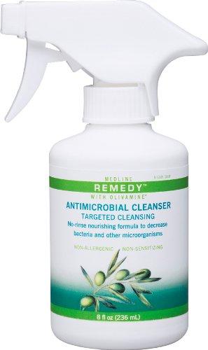 Medline Remedy Olivamine Antimicrobial Cleanser, 8 Fluid Ounce