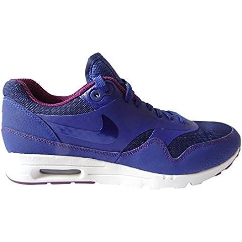 Nike Air Max 1Ultra Essentials para mujer zapatillas 704993Zapatillas Zapatos (UK 7Nosotros 9.5Eu 41, color azul marino 401), color blanco