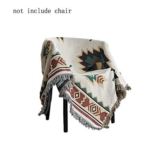 Jbsceen Couch Throw Decke, Gewebt werfen Reine Baumwolle, Fringe Decke super weich dekoratives Bett wirft Baumwolle Decke, Wohnzimmer wolldecke Baumwolle wirft (Beige, 90 * 210cm) -